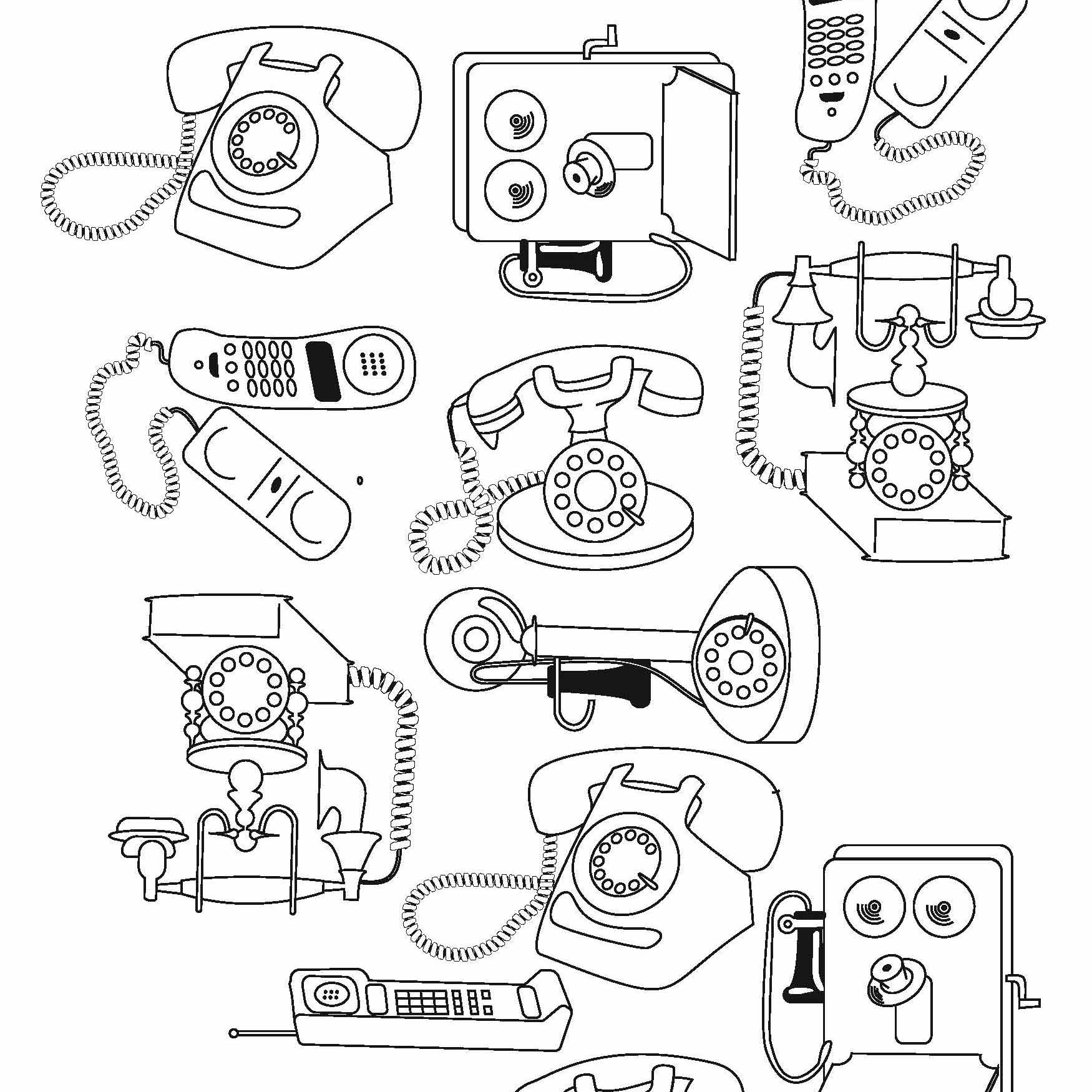 Here's an idea for an ipone case; illustrations of all the phones that come before.